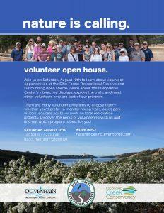 August 10 volunteer open house flier