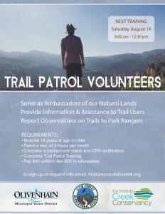 Trail patrol training flyer 8-14-21